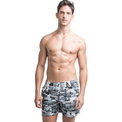 Shorts VENICE BEACH Estampado Preto e Branco