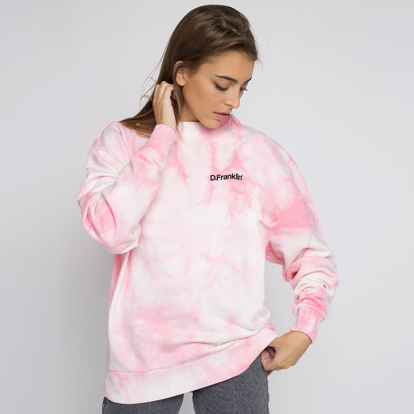 Sweatshirt Oversized DF Basic Tie Dye Pink