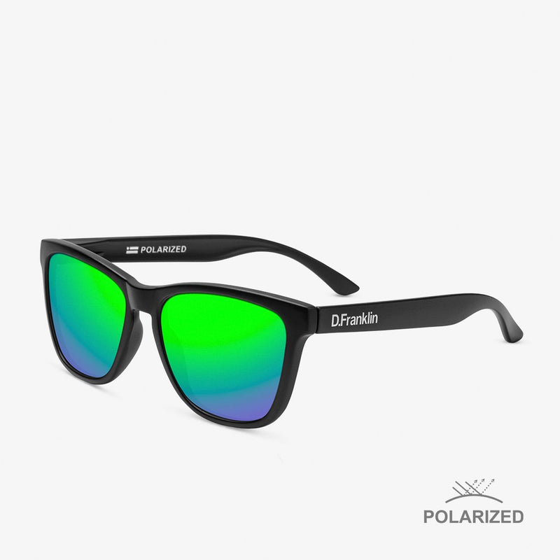 Roosevelt Black Matte / Green Polarized