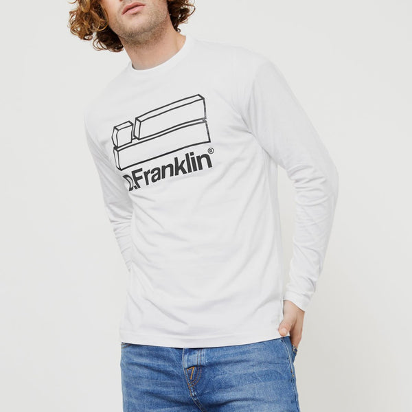 Flag Long Sleeve T-Shirt White