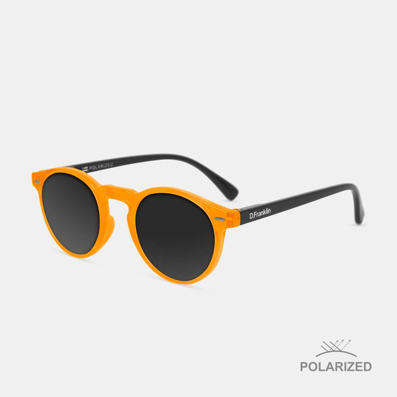 Ultra Light Orange Day-Glo / Black Polarized