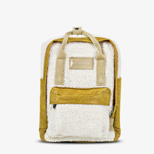 Abby Backpack Fleece Beige / Mustard