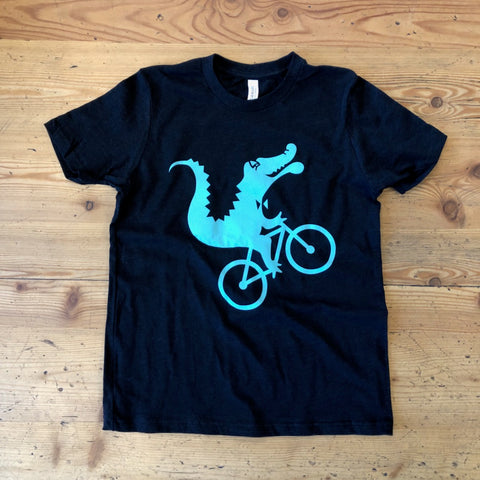 Youth Wheelie Gator Tee