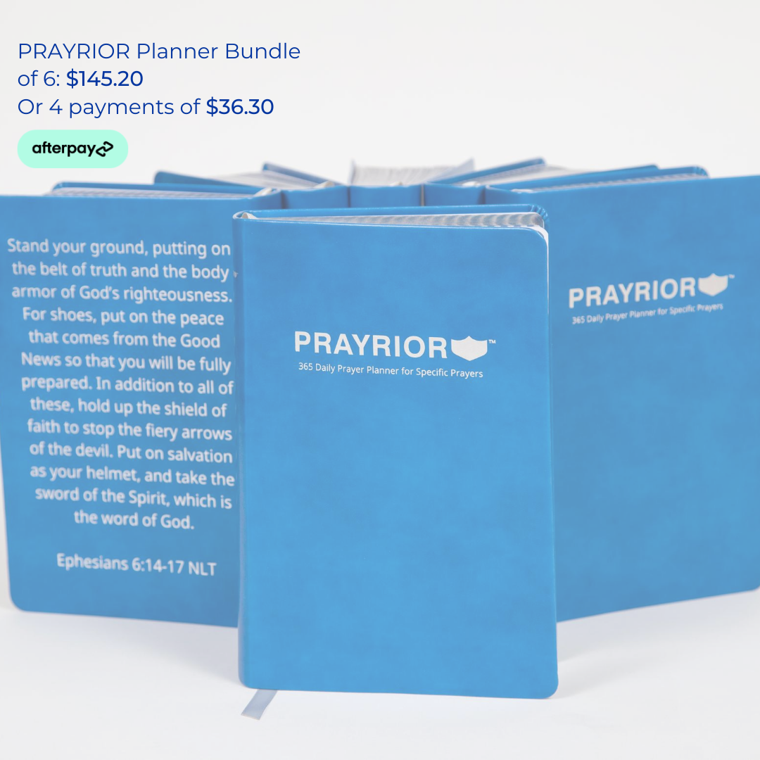 Buy Prayrior Planner Bundle of 6 with Afterpay