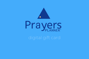 Prayers Planner gift card