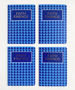 Faith Friends Mustard Seed Gold Dot Slim Notebook Squad Pack