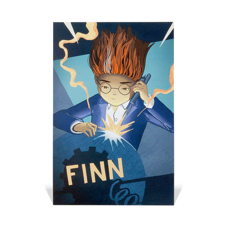 Postcard - Finn w/ name