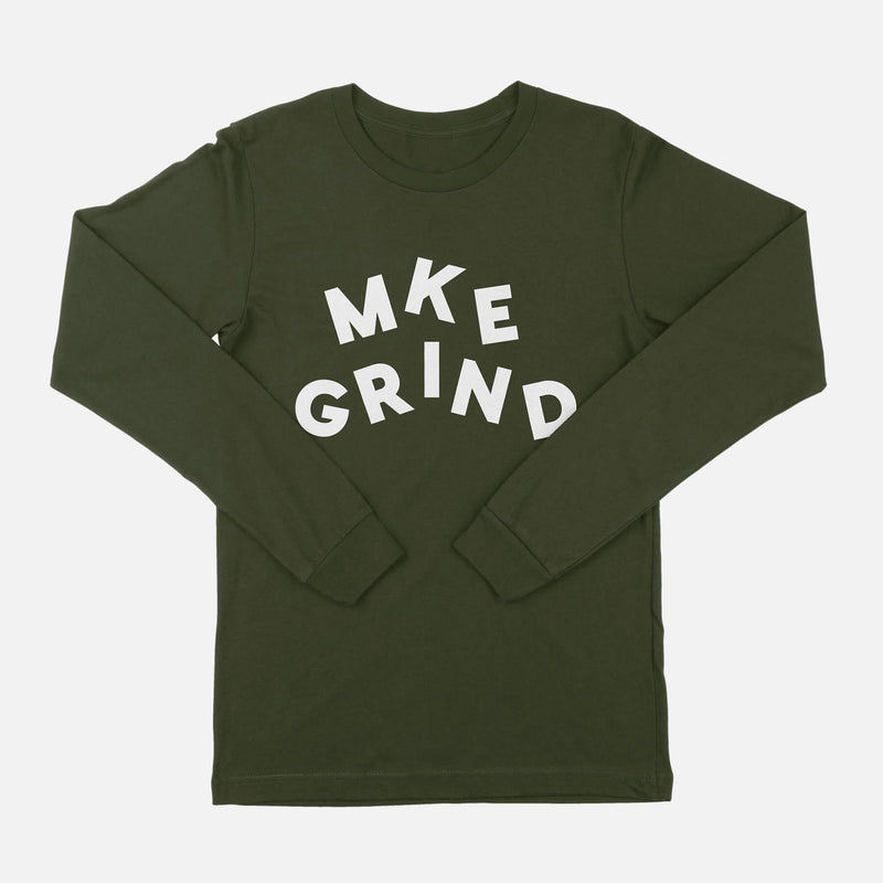 MG Juggle Logo Military Green L/S Tee