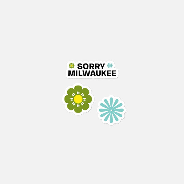 Sorry Milwaukee Retro Stickers (3-pack)