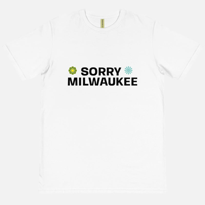 Sorry Milwaukee Retro White Tee