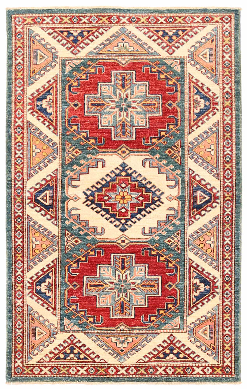 Kazak - Super Wool Rug 3'1''x4'11''
