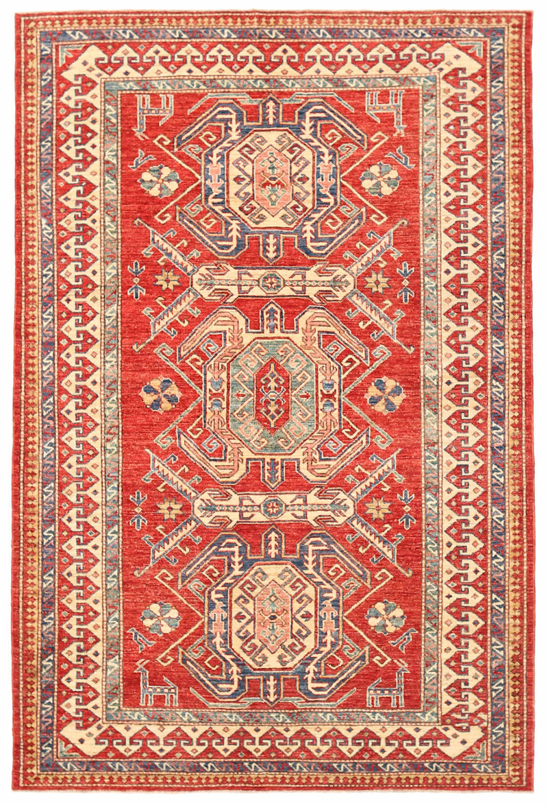 Kazak - Super Wool Rug 5'0''x7'7''