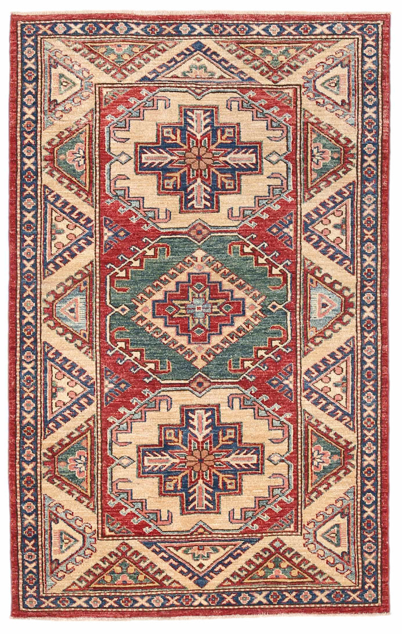 Kazak - Super Wool Rug 3'2''x5'0''