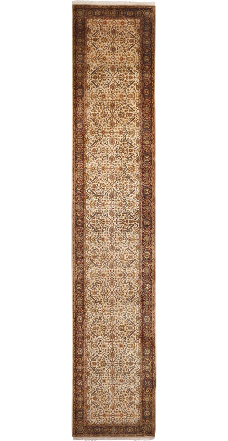 Farahan Collection Rug in Ivory/Rust