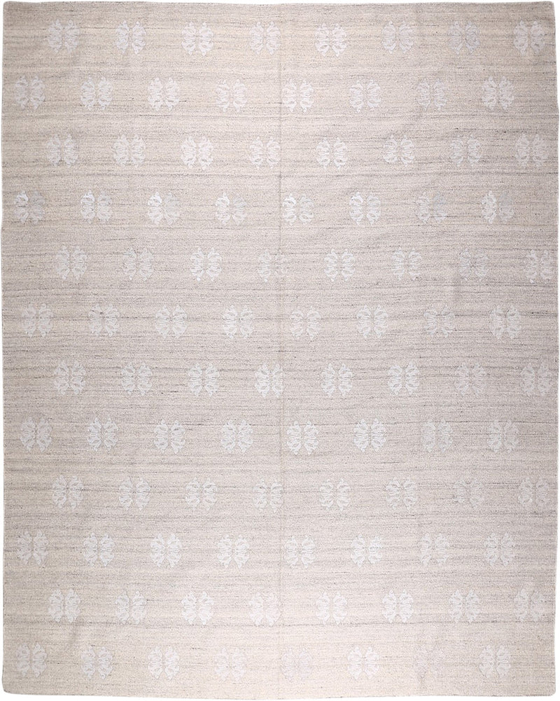 Embroidered Kilim Wool/Polyester Rug 8'2''x10'1''