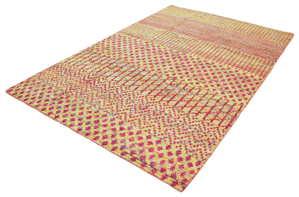 Echo Collection Rug in Yellow & Magenta