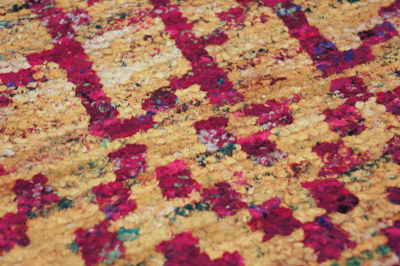 Echo Bamboo Rug in Yellow & Magenta