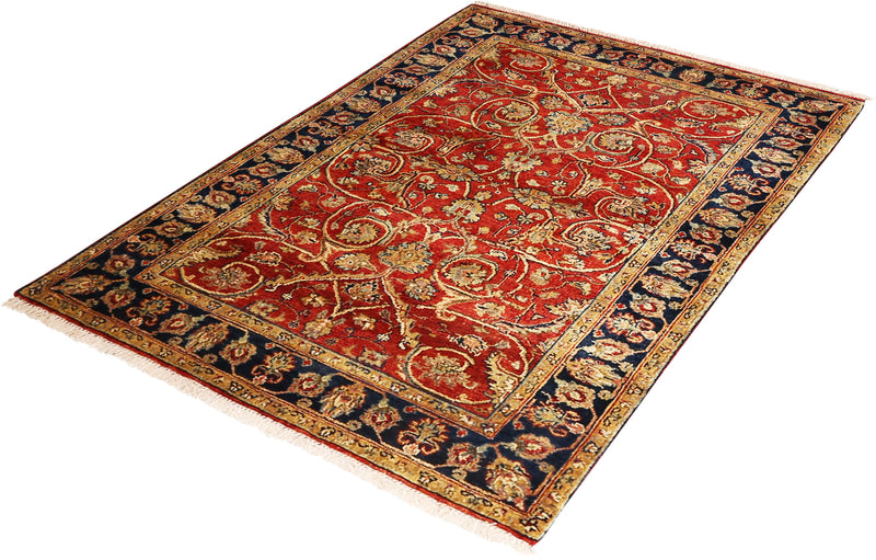 Serapi Collection Rug in Red/Navy