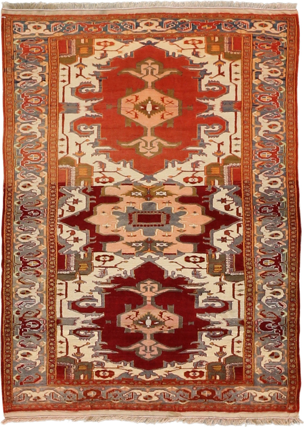 Persian - Luxury Wool Hand Knotted 4'0''x5'5''