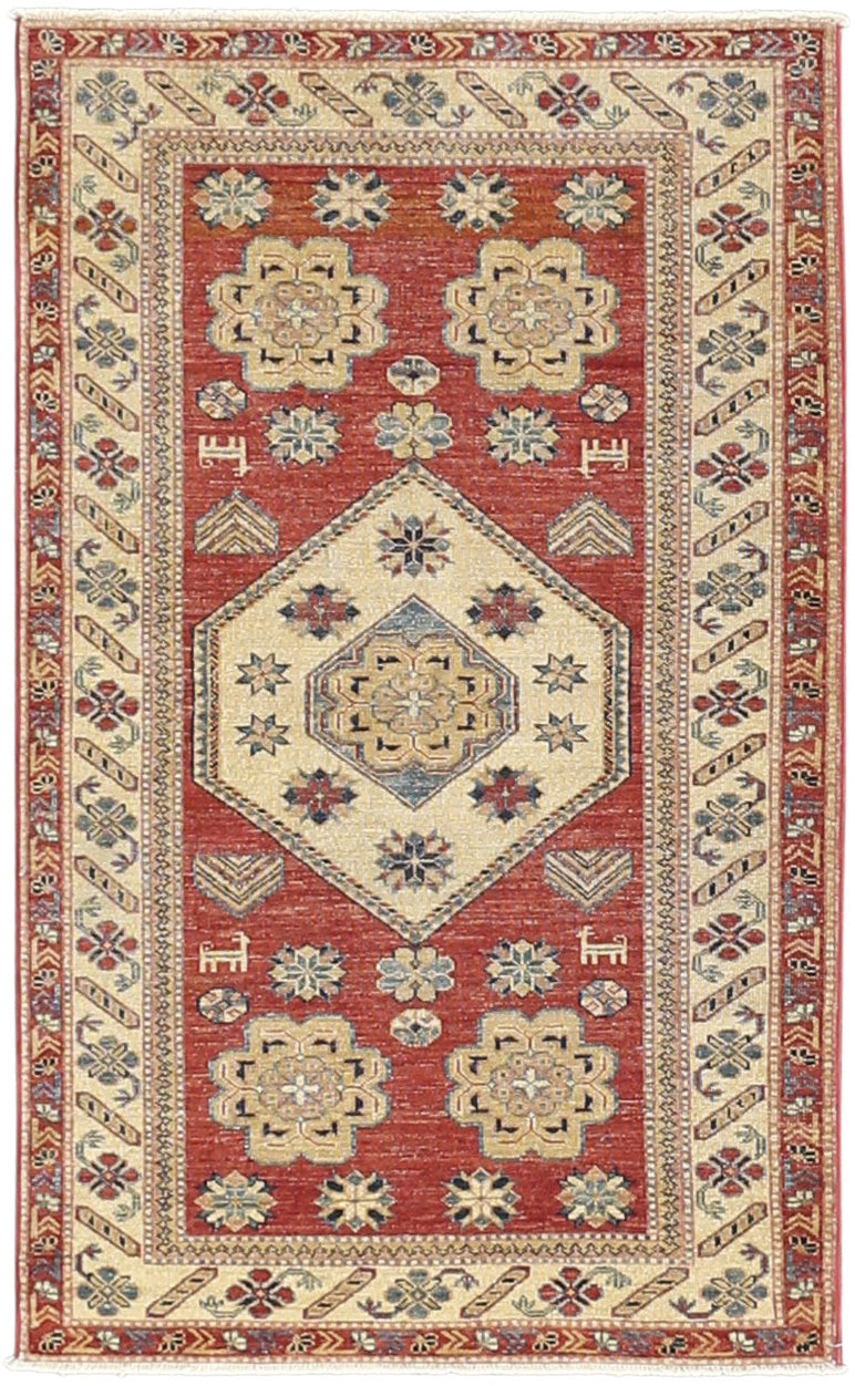 Kazak - Super Wool Rug 3'2''x5'2''