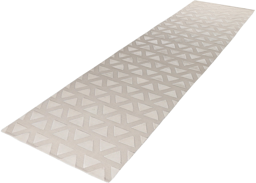 Triangles Wool/Silk Rug 3'7''x15'5''