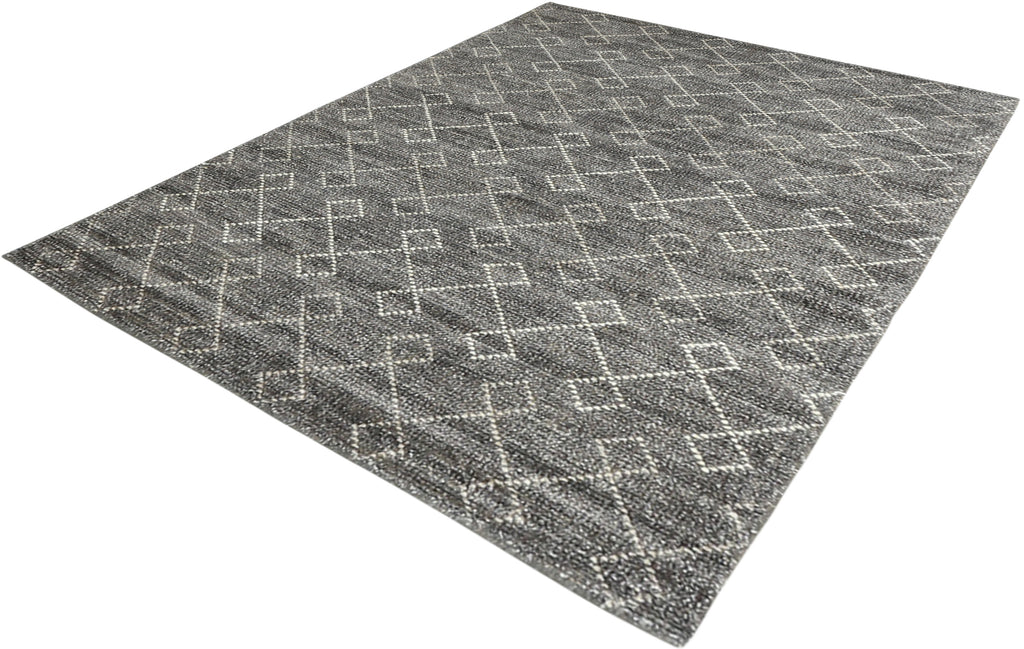 Ohi Bamboo Silk Rug in Grey