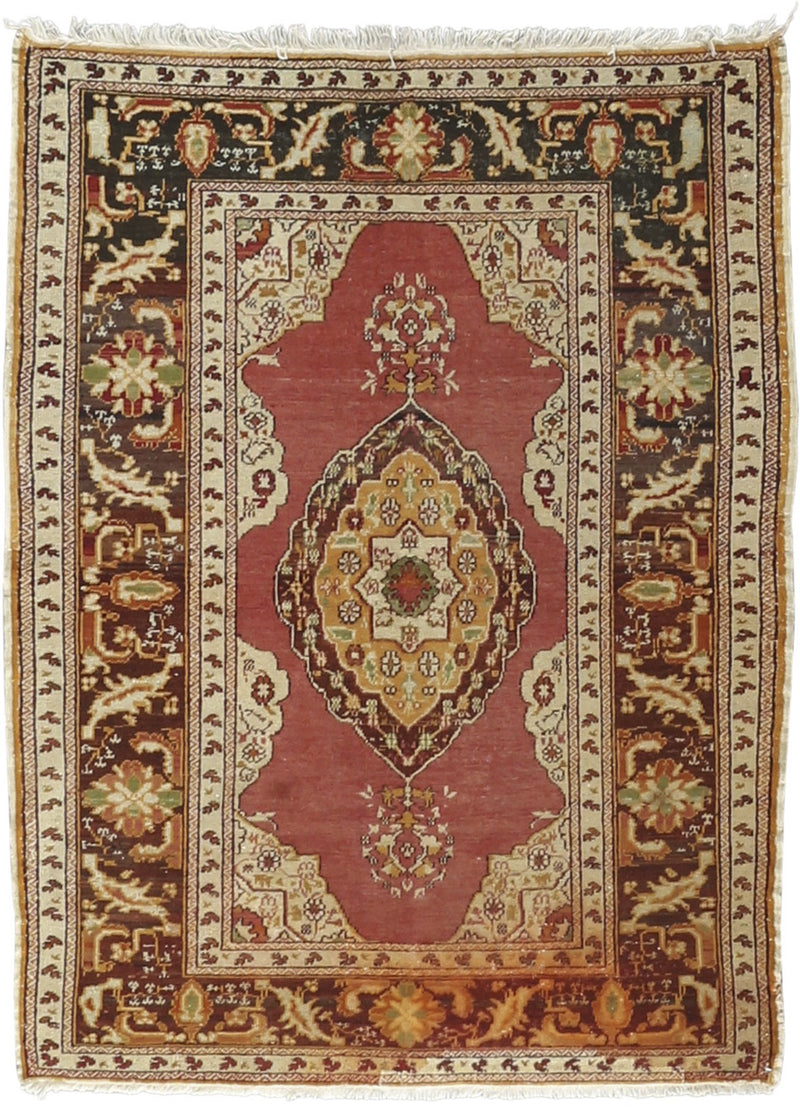 Antique Anatolian Wool Rug 3'11''x5'4''