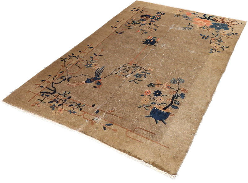 Antique Chinese Wool Rug 4'11''x7'6''