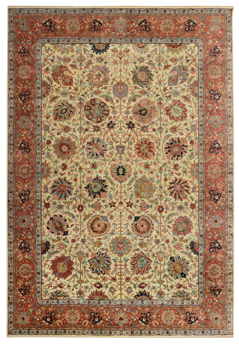 "Sera Collection Rug in Ivory/Red 7'6""x10'"