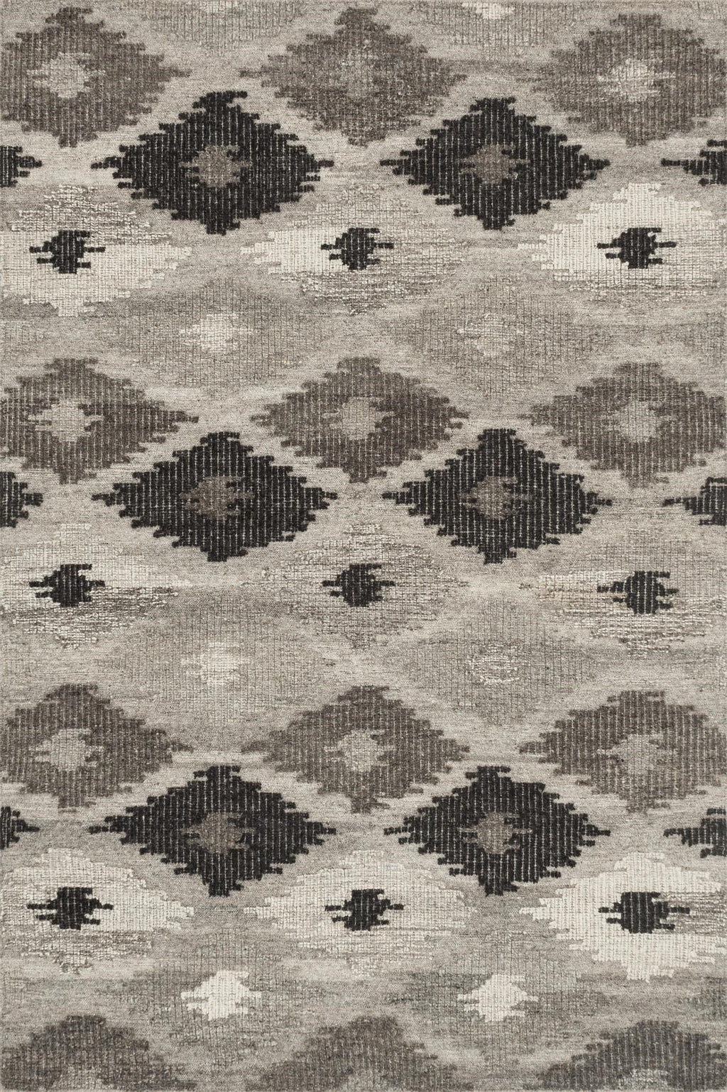 AKINA Collection Wool Rug  in  GREY / CHARCOAL Gray Small Hand-Woven Wool
