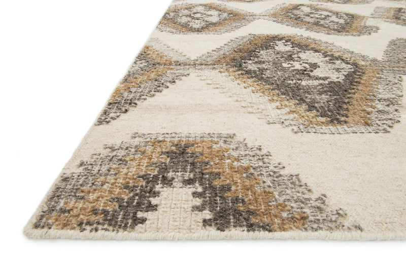 AKINA Collection Wool Rug  in  IVORY / CAMEL