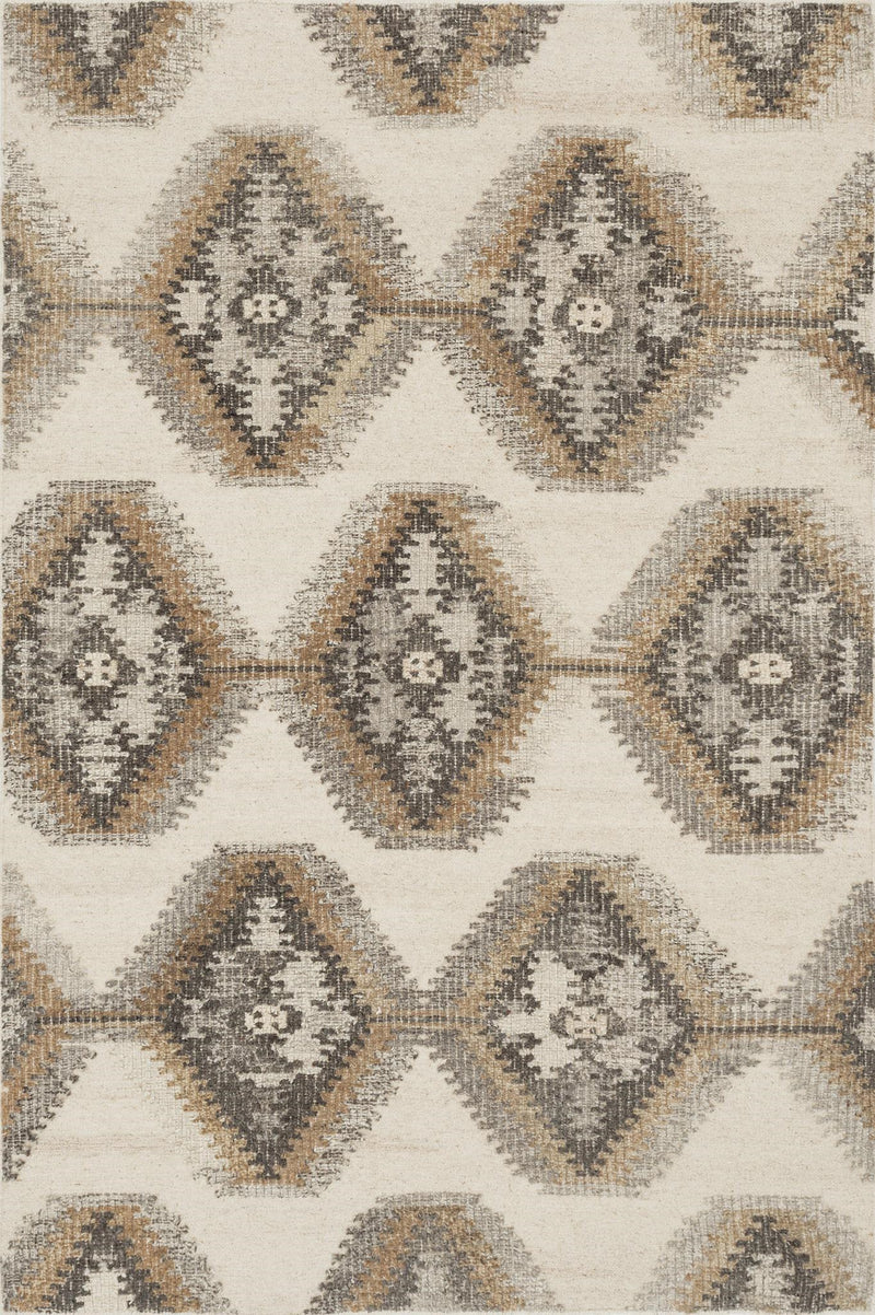 AKINA Collection Wool Rug  in  IVORY / CAMEL Ivory Small Hand-Woven Wool
