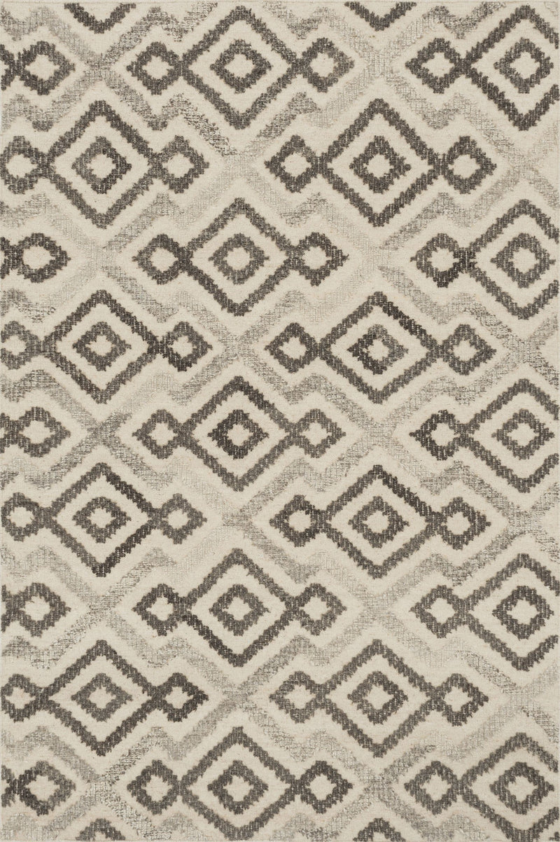 AKINA Collection Wool Rug  in  IVORY / GREY Ivory Small Hand-Woven Wool