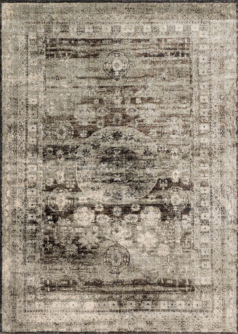 ANASTASIA Collection Rug  in  GRANITE Gray Runner Power-Loomed Polypropylene/Polyester