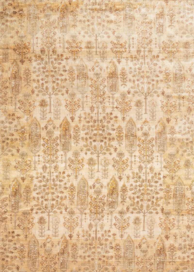ANASTASIA Collection Rug  in  ANT IVORY / GOLD Beige Runner Power-Loomed Polypropylene/Polyester