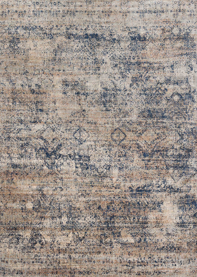 ANASTASIA Collection Rug  in  MIST / BLUE Beige Runner Power-Loomed Polypropylene/Polyester