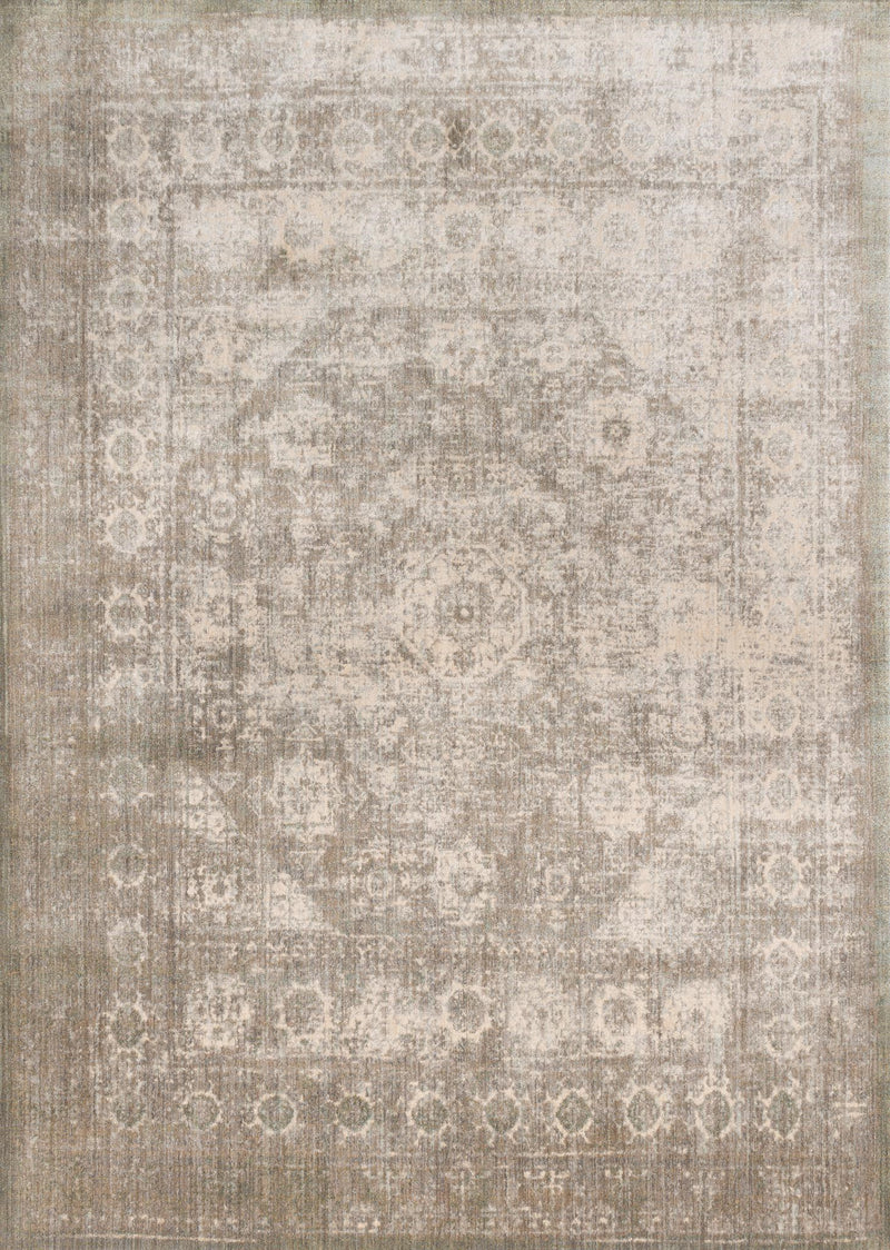 ANASTASIA Collection Rug  in  GREY / SAGE Gray Runner Power-Loomed Polypropylene/Polyester