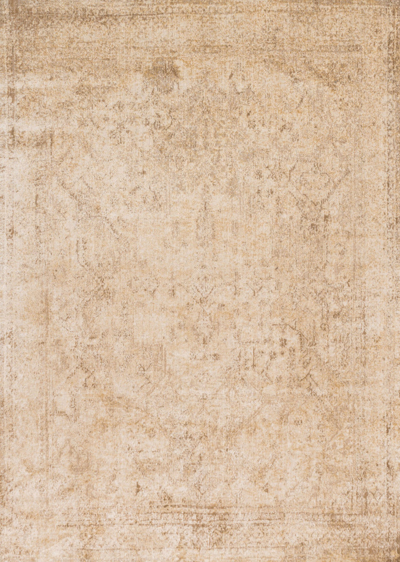 ANASTASIA Collection Rug  in  IVORY / LT. GOLD Ivory Runner Power-Loomed Polypropylene/Polyester