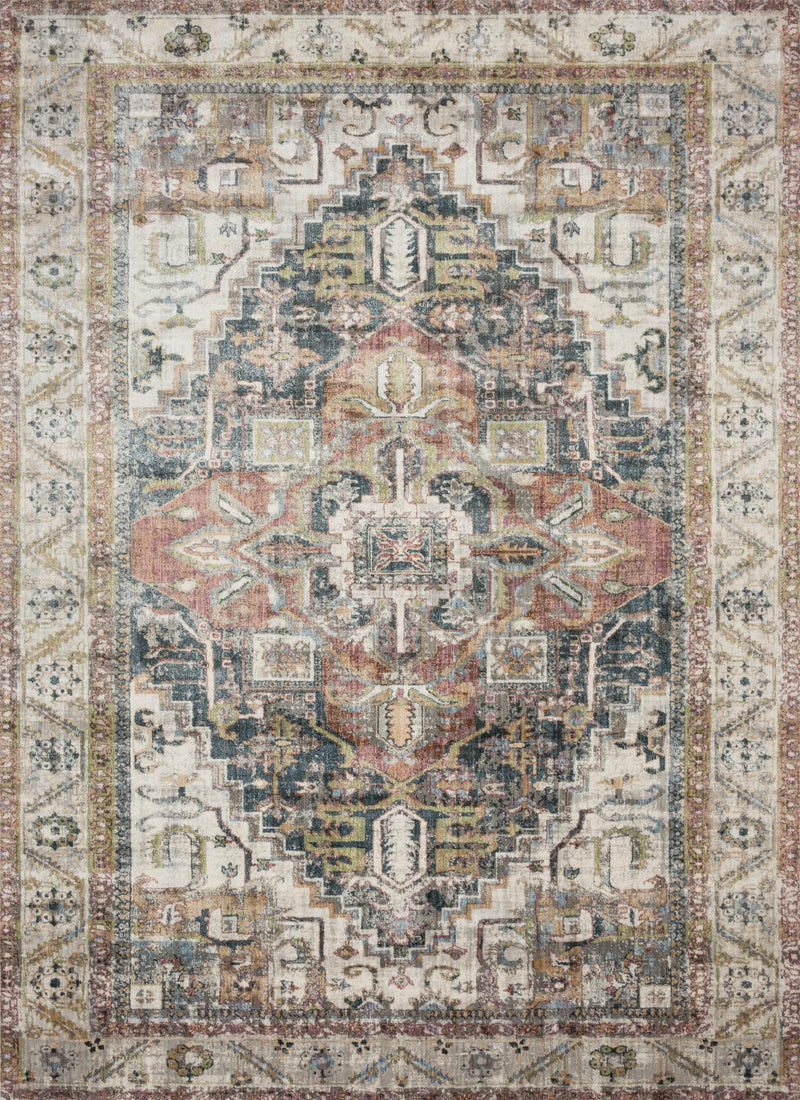 ANASTASIA Collection Rug  in  IVORY / MULTI Ivory Runner Power-Loomed Polypropylene/Polyester