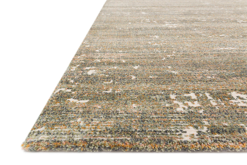 AUGUSTUS Collection Rug in MOSS / SPICE Green Accent Power-Loomed Jute/Wool