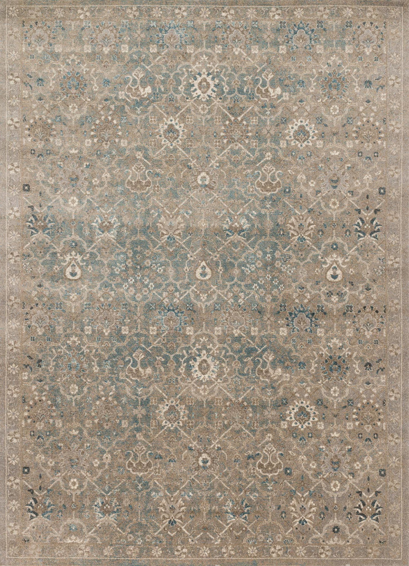 CENTURY Collection Rug  in  BLUESTONE Blue Runner Power-Loomed Polypropylene