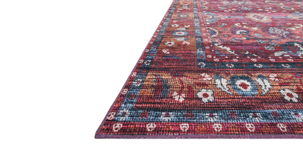 CIELO Collection Rug  in  BERRY / TANGERINE