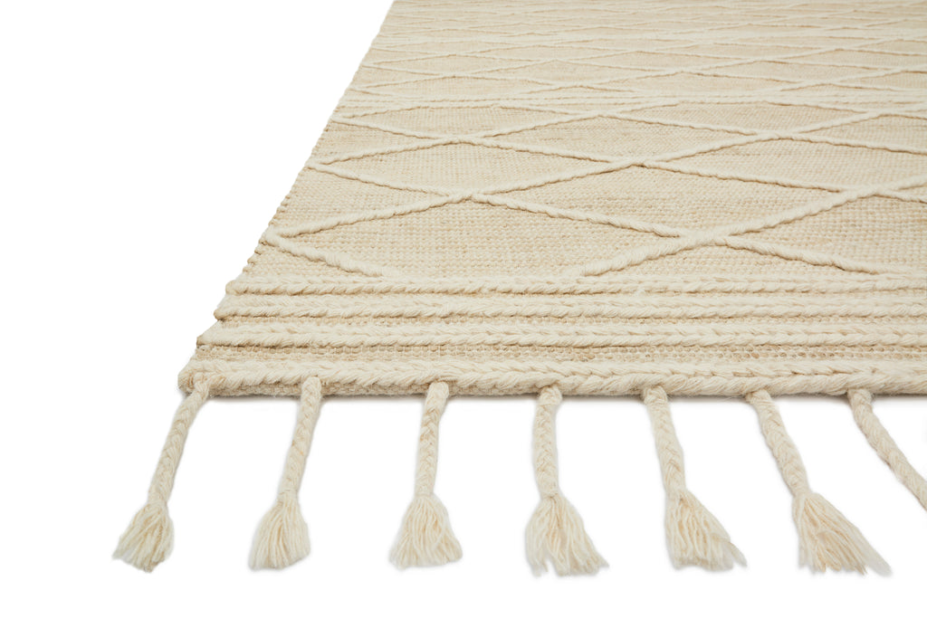 CORA Collection Rug  in  IVORY / WHITE Ivory Accent Hand-Woven Viscose/Acrylic