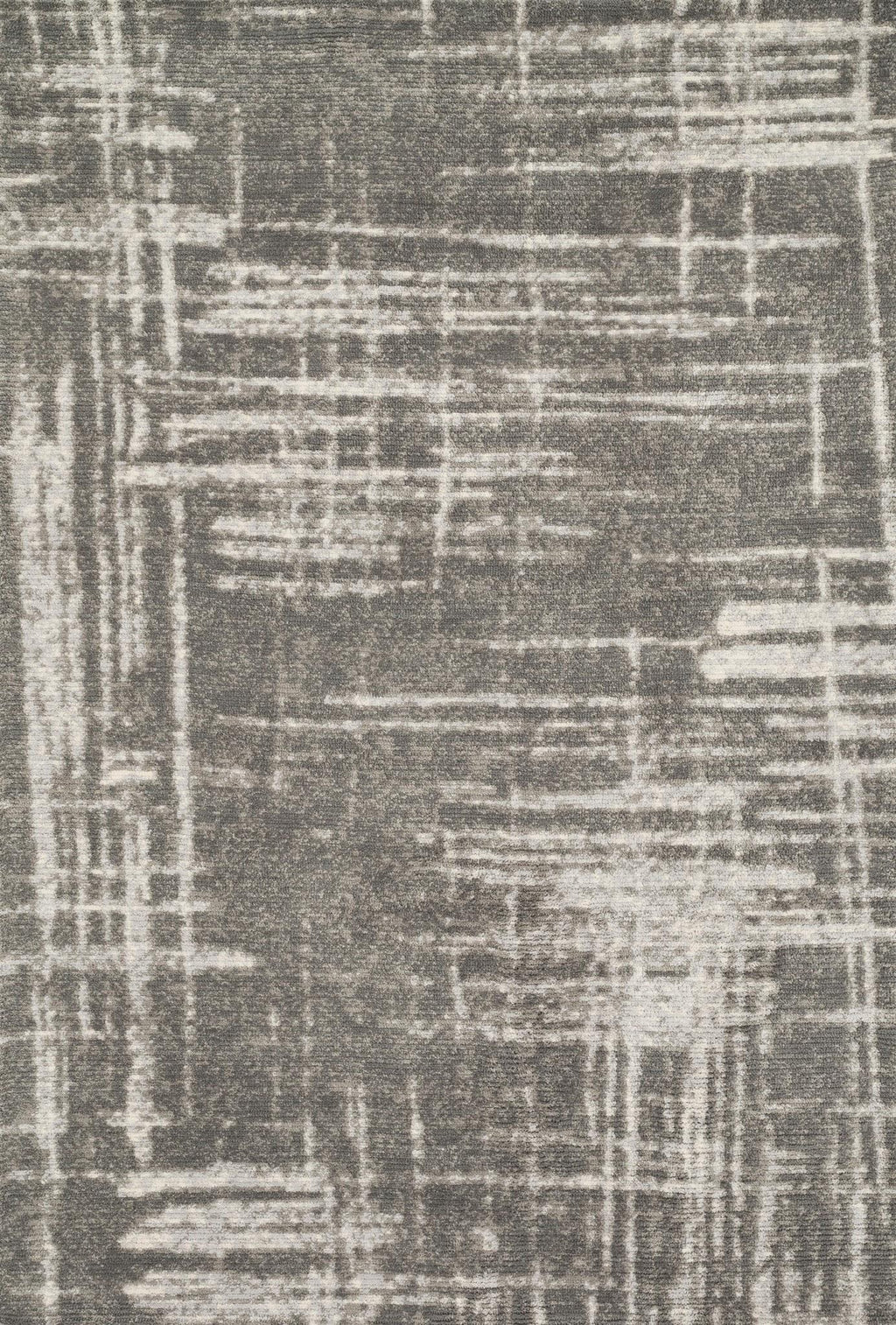 DISCOVER Collection Rug  in  IRON Gray Small Power-Loomed Polyester