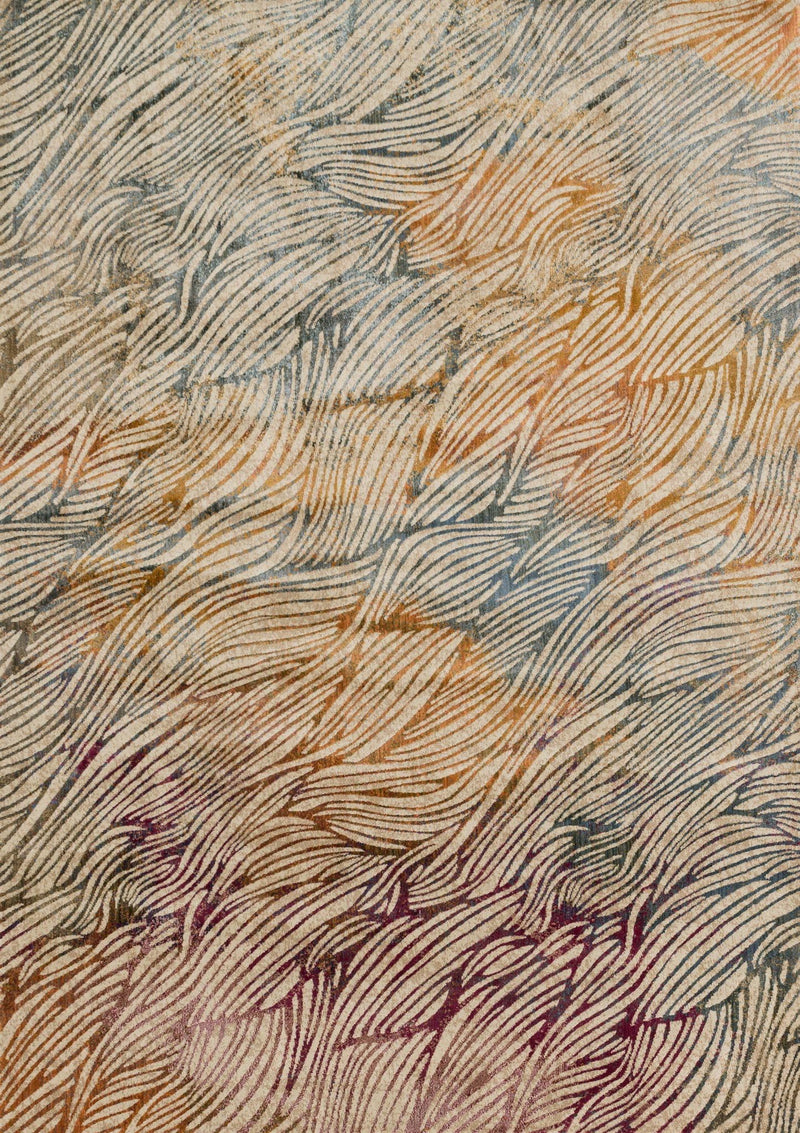 DREAMSCAPE Collection Rug  in  PRISM Blue Runner Power-Loomed Polypropylene/Polyester