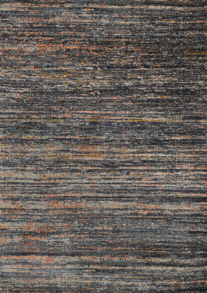 DREAMSCAPE Collection Rug  in  SLATE / ORANGE Gray Runner Power-Loomed Polypropylene/Polyester