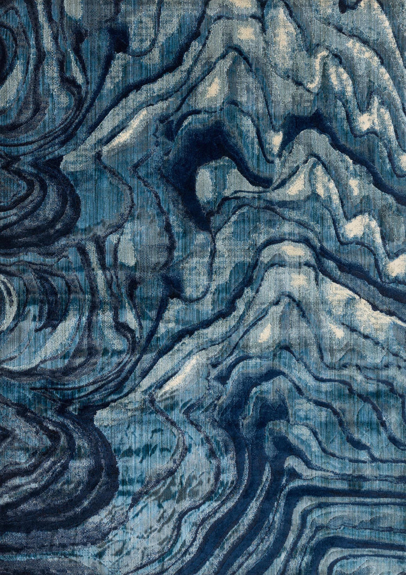 DREAMSCAPE Collection Rug  in  INDIGO / BLUE Blue Runner Power-Loomed Polypropylene/Polyester
