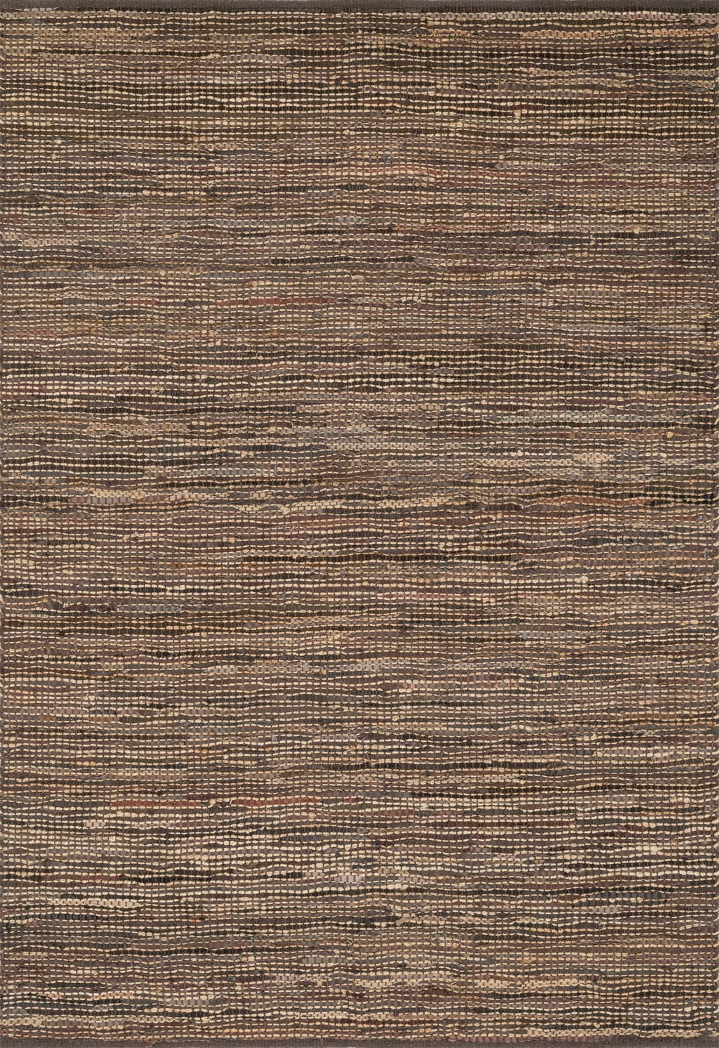EDGE Collection Rug  in  BROWN Brown Small Hand-Woven Jute/Hemp