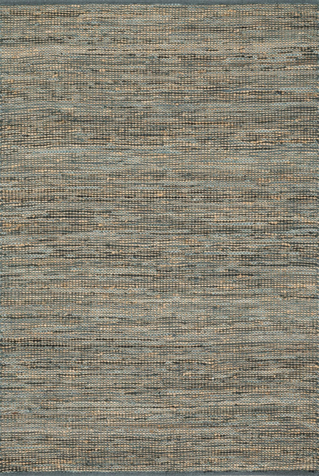 EDGE Collection Rug  in  GREY Gray Small Hand-Woven Jute/Hemp