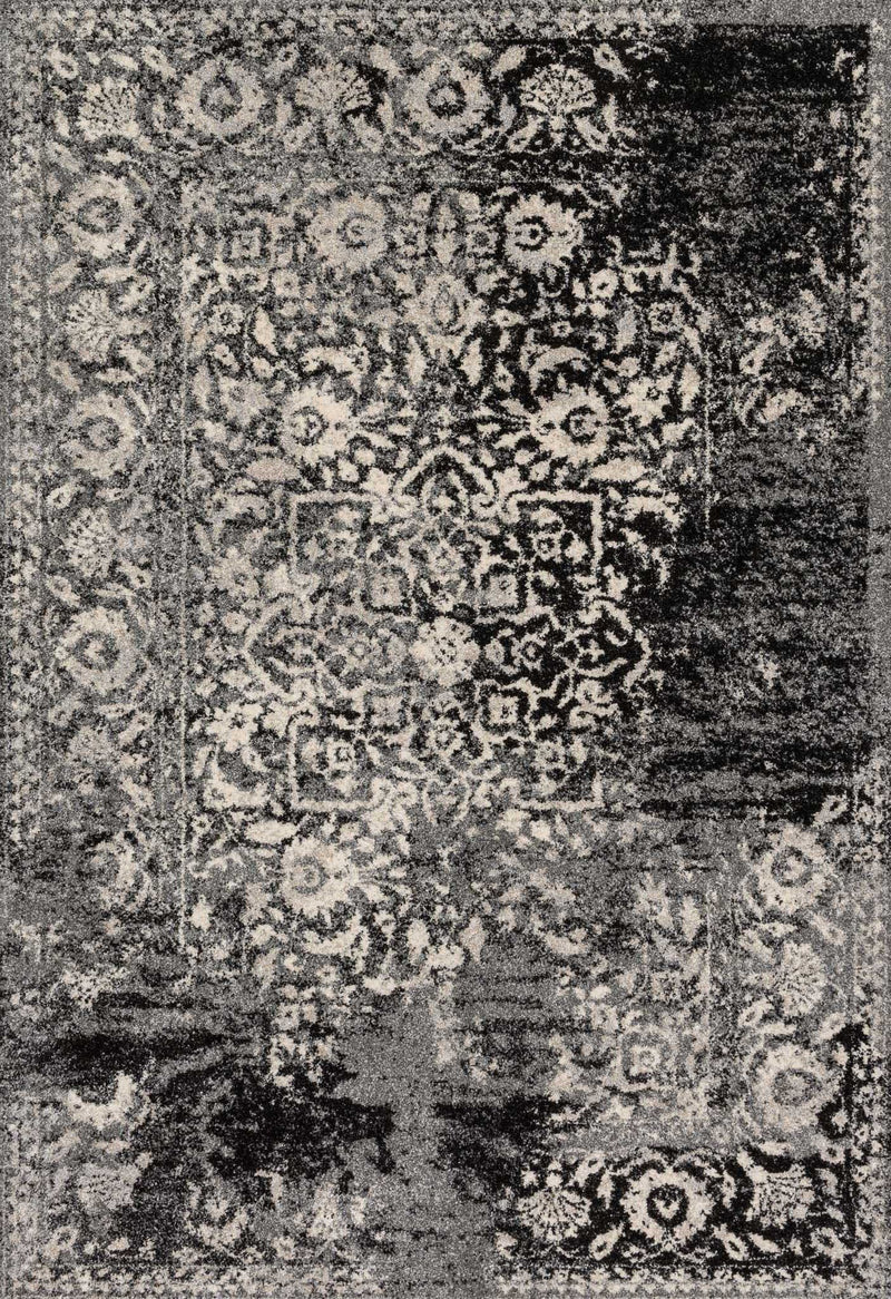 JOURNEY Collection Wool/Viscose Rug  in  BLACK / SILVER